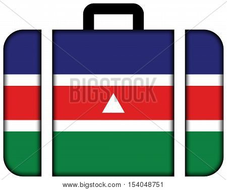 Flag Of Juiz De Fora, Brazil. Suitcase Icon, Travel And Transportation Concept