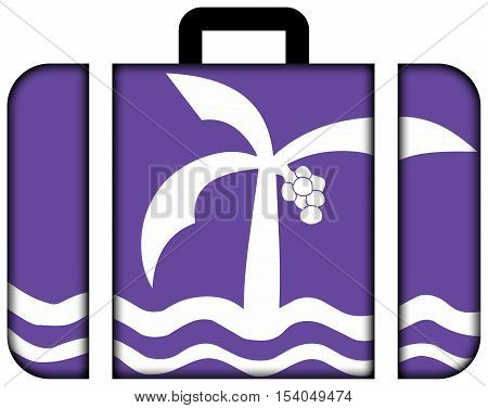 Flag Of Macae, Brazil. Suitcase Icon, Travel And Transportation Concept