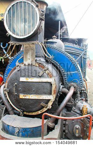 Darjeeling toy steam train in Ghum India