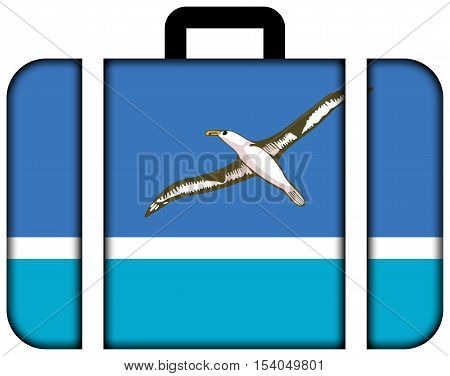 Flag Of Midway Atoll (unofficial). Suitcase Icon, Travel And Transportation Concept