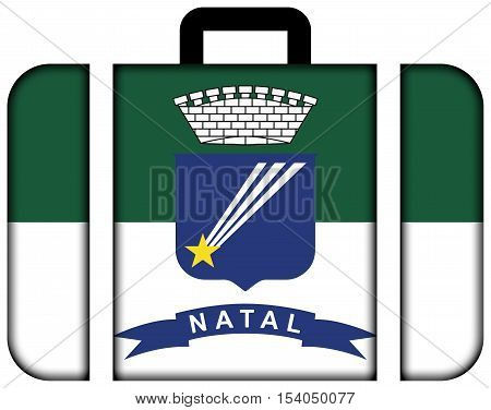 Flag Of Natal, Rio Grande Do Norte, Brazil. Suitcase Icon, Travel And Transportation Concept
