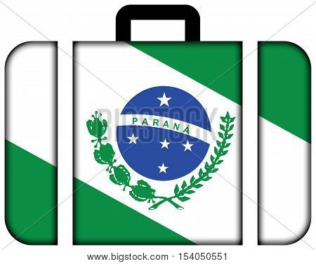 Flag Of Parana State, Brazil. Suitcase Icon, Travel And Transportation Concept