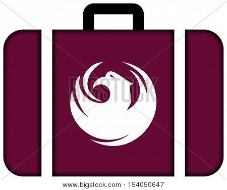 Flag Of Phoenix, Arizona, Usa. Suitcase Icon, Travel And Transportation Concept