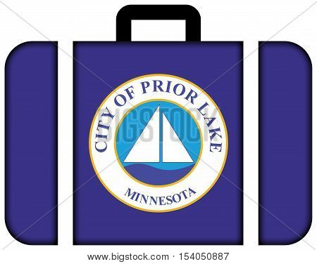 Flag Of Prior Lake, Minnesota, Usa. Suitcase Icon, Travel And Transportation Concept