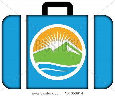 Flag Of Provo, Utah, Usa. Suitcase Icon, Travel And Transportation Concept