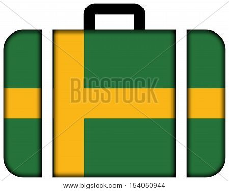 Flag Of Pula (pola), Croatia. Suitcase Icon, Travel And Transportation Concept