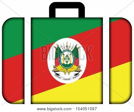 Flag Of Rio Grande Do Sul State, Brazil. Suitcase Icon, Travel And Transportation Concept