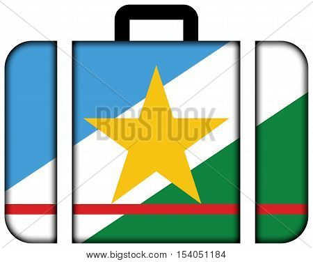Flag Of Roraima State, Brazil. Suitcase Icon, Travel And Transportation Concept