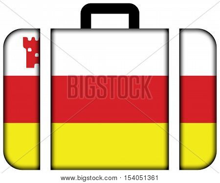 Flag Of Santa Barbara, California, Usa. Suitcase Icon, Travel And Transportation Concept