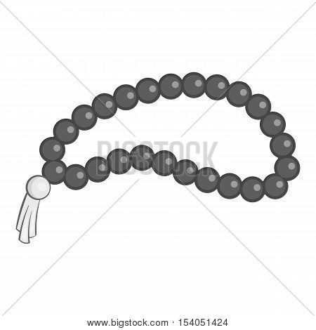 Beads icon. Gray monochrome illustration of beads vector icon for web design
