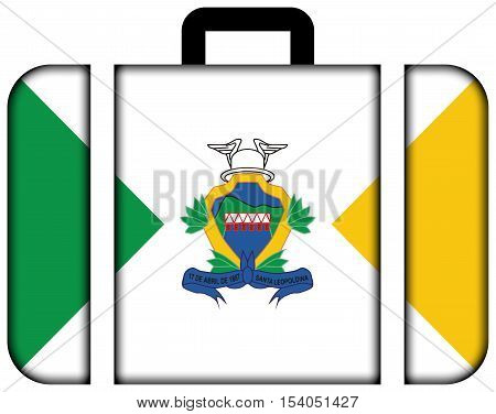 Flag Of Santa Leopoldina, Espirito Santo State, Brazil. Suitcase Icon, Travel And Transportation Con