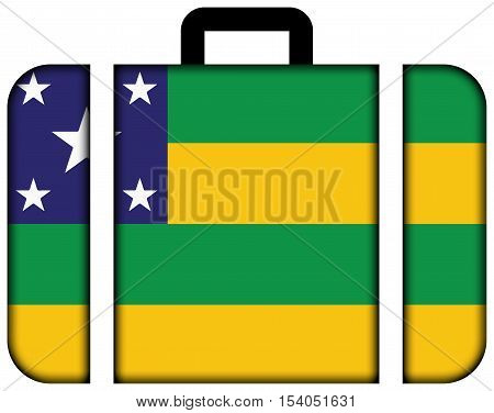 Flag Of Sergipe State, Brazil. Suitcase Icon, Travel And Transportation Concept