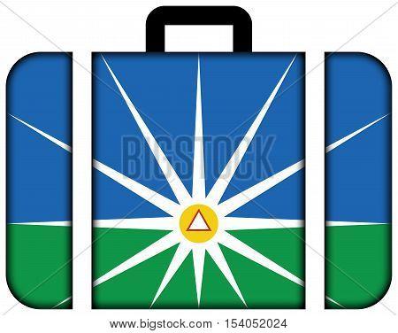 Flag Of Uberlandia, Minas Gerais, Brazil. Suitcase Icon, Travel And Transportation Concept