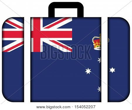 Flag Of Victoria State, Australia. Suitcase Icon, Travel And Transportation Concept