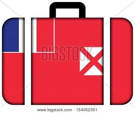 Flag Of Wallis And Futuna. Suitcase Icon, Travel And Transportation Concept