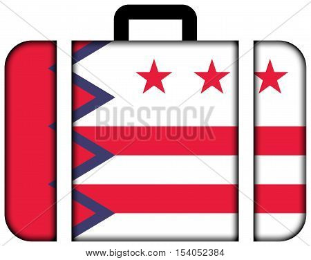 Flag Of Washington, Maine, Usa. Suitcase Icon, Travel And Transportation Concept