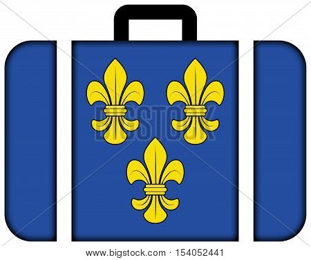 Flag Of Wiesbaden, Germany. Suitcase Icon, Travel And Transportation Concept