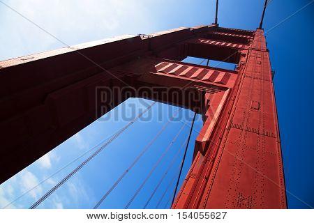 Golden Gate Bridge in Detail, San Francisco