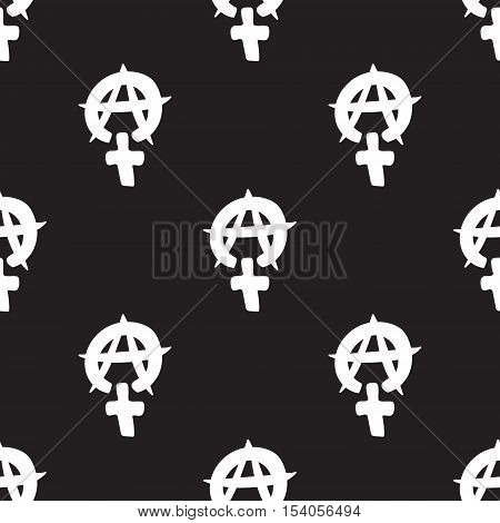 Repeating geometric background with symbol of feminine. Seamless vector pattern. For wrapping paper, fabric, textiles, wallpaper