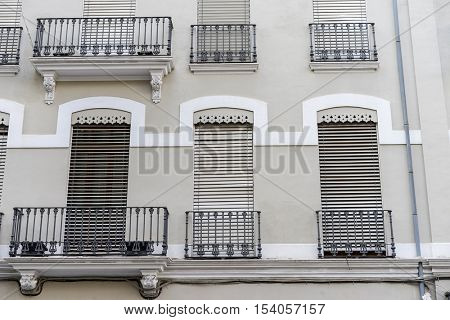 Traditional architecture of the center of the Spanish city of Castellon, Valencian Community