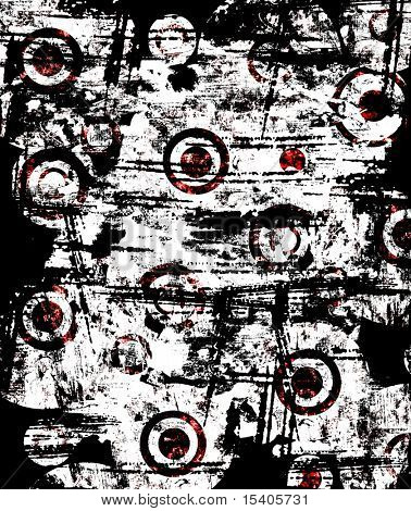 Circles grunge background