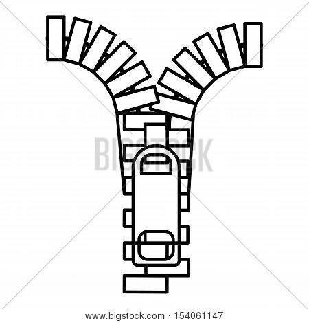 Zipper icon. Outline illustration of zipper vector icon for web