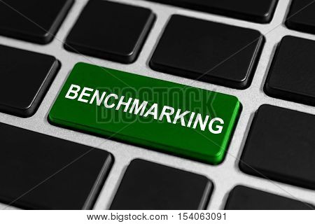 performance benchmarking button on keyboard business concept
