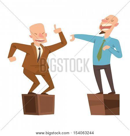 Politicians people vector set.
