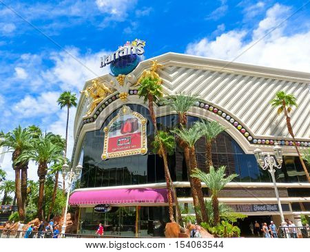 Las Vegas United States of America - May 05 2016: Harrah's Las Vegas hotel and casino. Harrah's is a hotel and casino owned and operated by Caesars Entertainment Corporation.