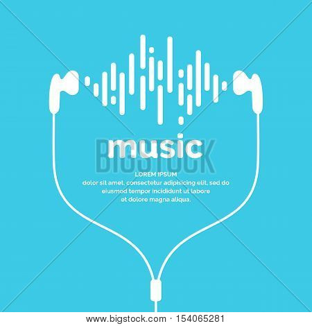The image of the sound wave. Vector illustration. Icon. Track. Song Music
