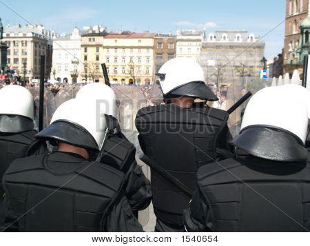 Riot Police At Love Parade