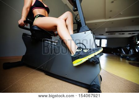 Girl training in the gym