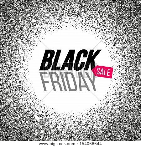 Black Friday sale banner. Vector stock illustration.