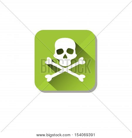 Toxic Stop Safety Sign Icon Flat Vector Illustration