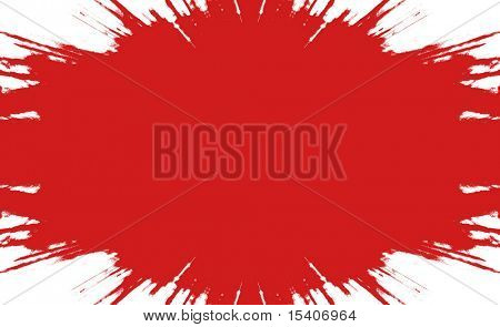 Big Red Splatter, See Vector Also In My Portfolio