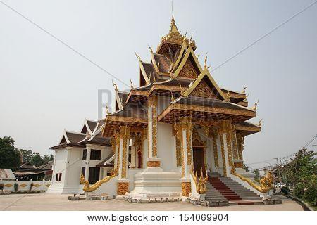 VIENTIANE, LAOS - FEBRUARY 21, 2016: Citypillar, one of the sights in Vientiane on February 21, 2016 in Laos, Asia