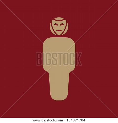 The anonym icon. Unknown and faceless, impersonal, featureless symbol. Flat Vector illustration
