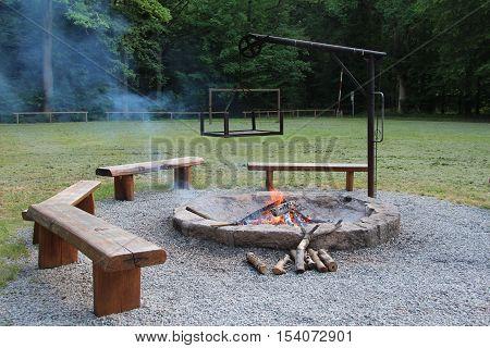 Bonfire / Tongues of flame embrace the logs