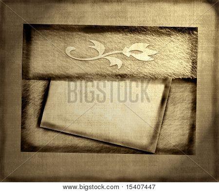 Aged Vintage Envelope and Note Paper Grunge