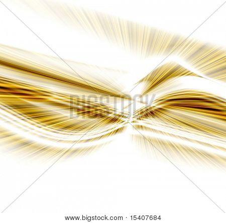 Gold Burst Wave