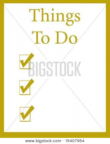 Blank Checklist Of Things To Do