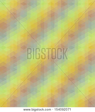 Abstract low polygonal - mosaic geometry hexagonal background in muted warm autumn colors of yellow orange and brown