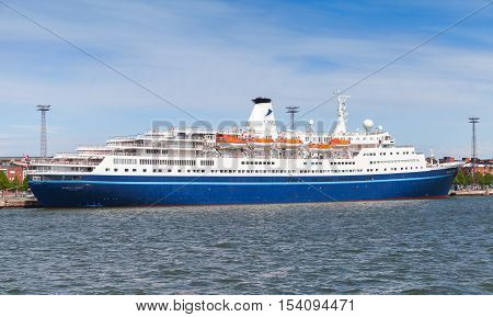 Ms Marco Polo Cruise Ship In Port Of Helsinki