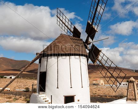 Old windmill in Antigua village Fuerteventura Canary Islands Spain