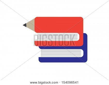 Library. E-book idea icon. School, University Knowledge.education concept