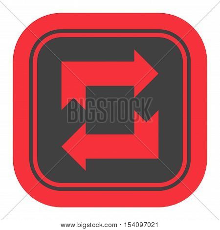 UI interface reload circle button element. Vector internet reload arrows button isolated. Website circle re-load round button sign.