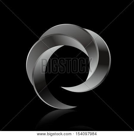 Logo business circular whirlpool. Business whirlpool, circular logo, swirl logo, round vortex logo, spiral company logo