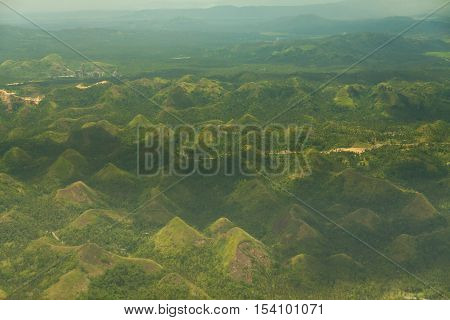 Quitinday green hill similar to the bohol chocolate hills but near Legazpi, Philippines