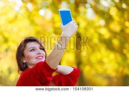 Gorgeous Girl Taking Selfie.