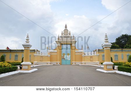 The Entrance Of Royal Palace Inphnom Penh, Cambodia
